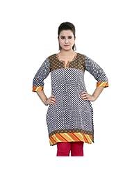 Rama Designer Cotton Multi Casual Printed Women's Kurti (14RAMA1421075)
