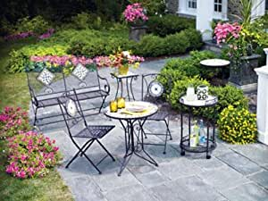 Amazon.com : Living Accents Slate Bistro 3 Piece Set (One ... on Living Accents Patio id=85776