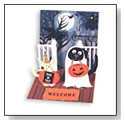 Halloween Dogs In Costume Pop up Card