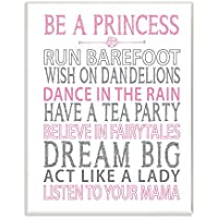 The Kids Room By Stupell Be A Princess Pink Typog Wall Plaque Art
