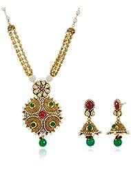 Sia Art Jewellery Gold Plated Jewellery Set For Women (Golden) (AZ2867)