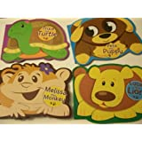 Animal Educational 4 Board Book Set ~ Pete The Puppy, Lucas The Lion, Trixie The Turtle, Melissa The Monkey