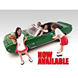 Carhop Waitress Brittany & Grace Set of 2 for 1:24 Models by American Diorama 23963 23964