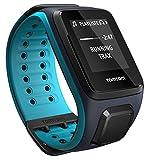TomTom Runner 2 Cardio+Music Orologio GPS con Auricolari Bluetooth, Cardiofrequenzimetro Integrato, Lettore Musicale Integrato, Cinturino Grande, Blu/Azzurro