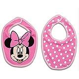Disney Minnie Mouse Pink Bib Set For Baby - 2 Bibs