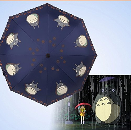 Finex® Fully Auto Open/Close Umbrella Totoro - Windproof - UltraSlim, Compact For Easy Carrying (Navy Blue)