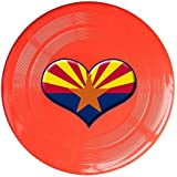 Red, One Size : XJBD Unisex Heart Of Arizona Flag Outdoor Game, Sport, Flying Discs, Game Room, Light Up Flying, Sport Disc , Flyer Frisbee, Ultra Star Yellow One Size