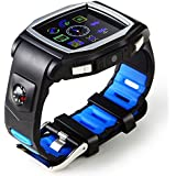 Multi-function Elechorse Heart Rate Monitor GPS Tracker Smart Watch Phone For Iphone IOS Android Smartwatch Black...
