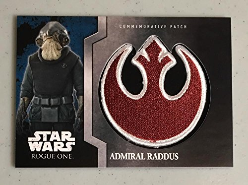 MultiSport MultiSport 2016 Topps Star Wars Rogue One Commemorative Patch #4 Admiral Raddus NM Near M