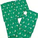 女性用 着物と羽織 ウール アンサンブル プレタ グリーン系 織物絣柄