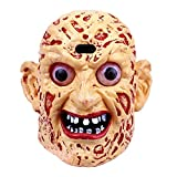 Coostyle Monster Ghost Head Lamp with LED Light and Horror Sound Batteries Included Creative Sound Touch Sensitive Halloween Decoration Props