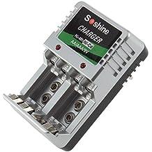 Alcoa Prime EU Plug Standard Charger 4 AA/AAA/9V/Ni-M?h/Ni-Cd Rechargeable Battery Batteries