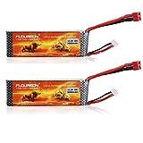 Floureon® 2 Packs 11.1V 3000mAh 30C Li-Polymer/Lipo Battery Packs RC Battery With Dean-Style T Conn