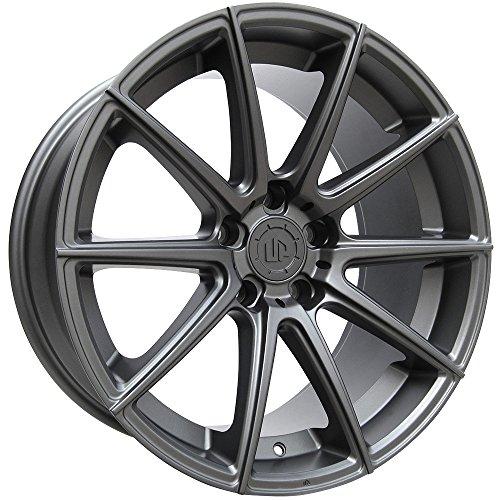 19″ UP100 Wheels Set fits Mercedes Benz Audi or Volkswagen in Matte GunMetal 19×8.5 UP Wheels Rims 5×112 +35 by Ultimate Performance Wheels