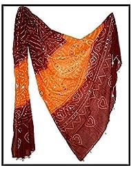 Famacart Women's Ethnicwear Cotton Bandhej Dupatta - B012GOCYDS
