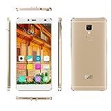 "[Elephone Official Store] Elephone S3 Lite 4G Lte- Frame-Menos Smartphone libre Android 5.1(pantalla 5.2"", cámara 13 Mp, 16 GB ROM, Quad-Core MTK6735 1.3 GHz, 2GB RAM) Oro"