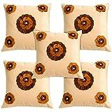 Idrape Velvet 5 Piece Cushion Cover Set- Beige, 40 Cm X 40 Cm - B013UCOS1G