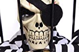 The Bone In Prison Horrible Skull Skeletion Halloween Masquerade Party Spoof Voice Electric Toy