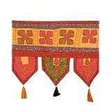 Decorative Toran Rust Cotton Floral Patch Work Toran Décor By Rajrang