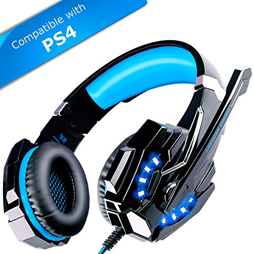 ECOOPRO Stereo Gaming Headset With Microphone - 3.5mm Over Ear Headphones - LED Lights In-line Volume Control...
