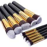 10 PCS Premium Synthetic Silky Makeup Brushes Set Makeup Tools Professional Makeup Brushes Face Powder Brush Makeup...
