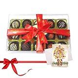 Chocholik Luxury Chocolates - Attractive Desserts Truffles Collection With Birthday Card