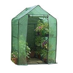 Gardman 7622 Walk-In Greenhouse with Shelving 63 long x 41 deep x 63 high (Includes Shelving)