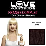 Love Hair Extensions Love Hair Extension Human Hairs Limited Edition Full Fringe, Colour 1B Natural Black