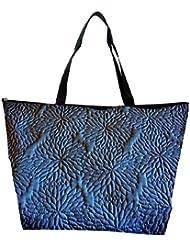 Snoogg Abstract Floral Blue Pattern Designer Waterproof Bag Made Of High Strength Nylon - B01I1KJEJI