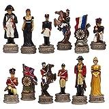Battle of Waterloo Hand-Painted Chessmen