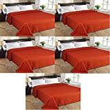 MSE Set Of 5 Home Collection Premium Quality Double Bed AC Bedspread Blanket - B06WLL5H5R