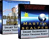 Master Scalper + Breakout Hunter Combo Pack - Trade Currency online 24 hours a day with the same trading robots the Pros use to scalp the FOREX market.  Fully automated - No programming and No trading experience required - Plug & Trade. Make Money from home with No stress. Version 12, with News Filter, for true