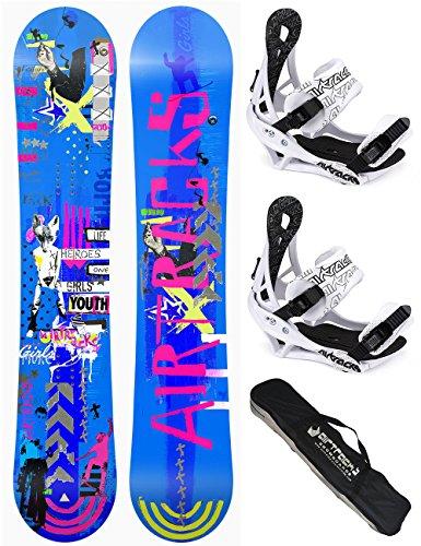 AIRTRACKS DAMEN SNOWBOARD SET / BOARD BLUEBIRD REVERSE ROCKER + BINDUNG SAVAGE W + SB BAG / 145 151 155 / cm