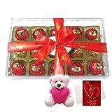 Chocholik Luxury Chocolates - Great Admire Treat With Teddy And Love Card