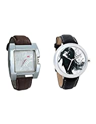 Gledati Men's White Dial & Foster's Women's White Dial Analog Watch Combo_ADCOMB0002270