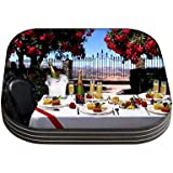 Snoogg Dinning Table Set Designer Pack Of 4 Square Table Coasters / Table And Kitchen Accessories