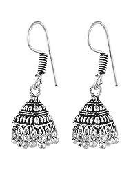 Ganapathy Gems White Metal Jhumki Earings For Women - White