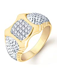 Pissara Surveen Chawla Collection Gold And Rhodium Plated CZ Ring For Men(109GRK600) For Men