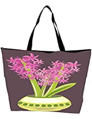 Snoogg Abstract Spring Illustration With Lots Of Flowers Waterproof Bag Made Of High Strength Nylon