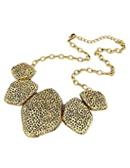 Young & Forever Geometric Designer Antique Gold Statement Necklace For Women By CrazeeMania