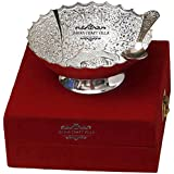 Silver Plated Elephant Carving Brass Bowl With Spoon From The House Of IndianCraftVilla . Can Be Use As Kitchenware...