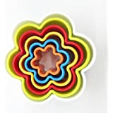 Evana Cookie Cutters 6Pcs/set Circle Cookie Cutter Set Two-sided Round Cookie Cutters Multi-size Biscuit Cutter...