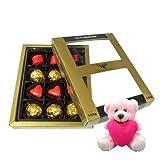 Well Decorated Chocolates Gift Box With Teddy - Chocholik Luxury Chocolates