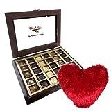 Valentine Chocholik's Belgium Chocolates - Sweet Elegance Gift Box With Heart Pillow