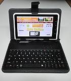 7インチ専用タブレットケース miniUSBキーボード&サイズ調整機能付