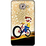PrintVisa Designer Back Case Cover For Samsung Galaxy On Max (Girl Child Fun Funny Vehicle)