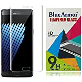 BlueArmor HD Clear Tempered Glass Screen Guard Protector For Samsung Galaxy Note 7 - Transparent (100% Coverage...