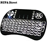 RUPA I8 Backlight Touchpad 2.4G Mini Wireless Keyboard & Mouse Combo Multi-media Portable Handheld Keyboard Airfly...