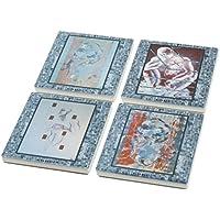 Fine Art Designed Ceramic Coaster Set Of 4