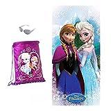Disney Frozen Summer Set Includes: Beach Towel, Tote Bag, & Sunglasses